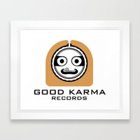 Good Karma Records Logo Framed Art Print