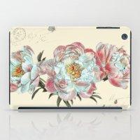vintage peonies iPad Case