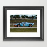 Ford GT 40 Race Car Sebr… Framed Art Print