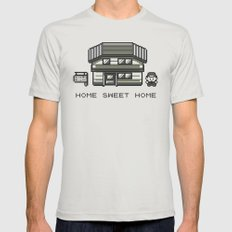 Home Sweet Home  Mens Fitted Tee Silver SMALL