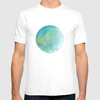 Watercolour 02 Mens Fitted Tee White SMALL
