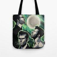 Three Derek Moon Tote Bag