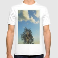 skull tree Mens Fitted Tee SMALL White