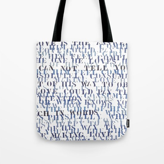 Sentences of Love Zoom Tote Bag