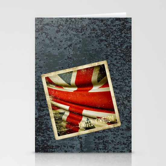Sticker with UK flag Stationery Card