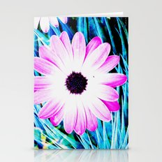 Making art with flower - blue tones Stationery Cards
