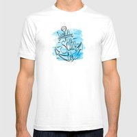 Live A Salty Life - Blue Mens Fitted Tee White SMALL
