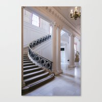 In White Canvas Print