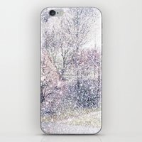 Snow in early fall(2). iPhone & iPod Skin