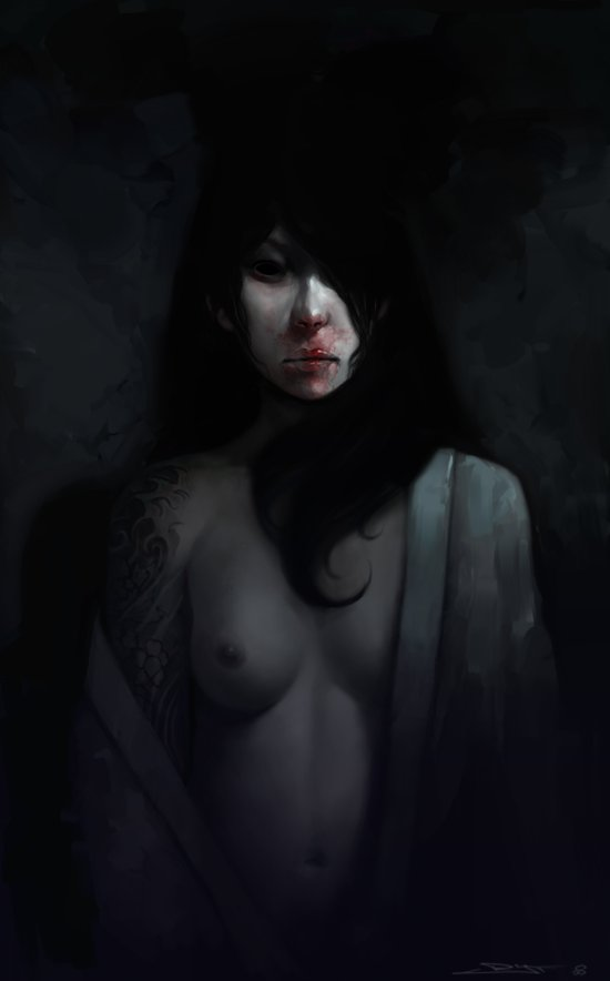 Portrait of Ikuko's Ghost Canvas Print