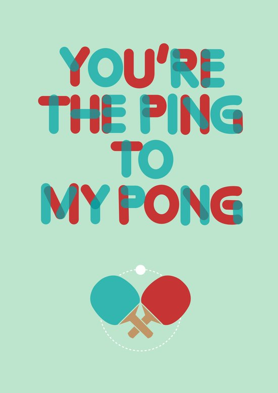 Love is like ping pong Canvas Print