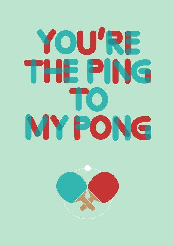 Love is like ping pong Art Print