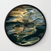 Water / H2O #42 (Water Abstract) Wall Clock