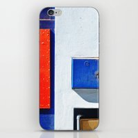 Red, blue, white shapes iPhone & iPod Skin