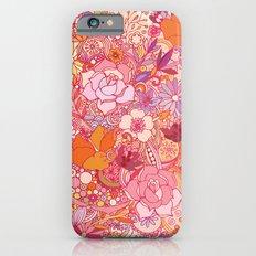 Detailed summer floral pattern Slim Case iPhone 6s
