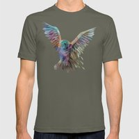 Geometric Owl Mens Fitted Tee Lieutenant SMALL