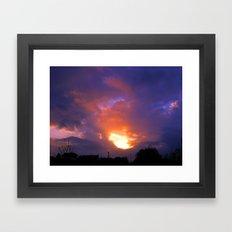 Sunset from my house 2 Framed Art Print