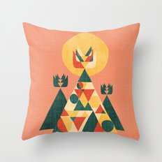 Sunset Tipi Throw Pillow
