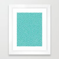 Dots. Framed Art Print