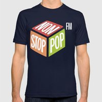 Non Stop Pop Mens Fitted Tee Navy SMALL