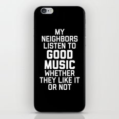Listen Music Funny Quote iPhone & iPod Skin