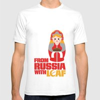 From Russia With Loaf Mens Fitted Tee White SMALL