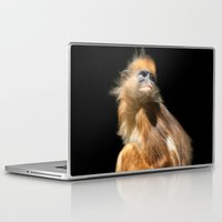 Laptop & iPad Skin featuring Banded Leaf Monkey Howletts by Serenity Photography