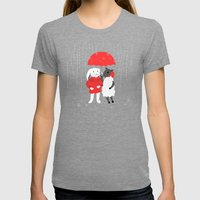In the Rain Womens Fitted Tee Tri-Grey SMALL