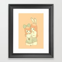 Bunnies Framed Art Print