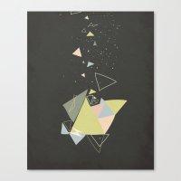 Exploding Triangles//Fiv… Canvas Print