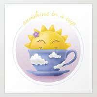 Sunshine in a cup Art Print