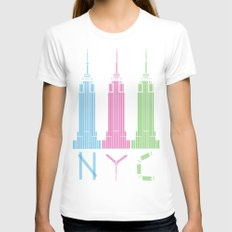 NYC Womens Fitted Tee White SMALL