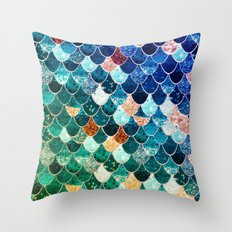 REALLY MERMAID TIFFANY Throw Pillow