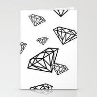 parachute diamonds Stationery Cards