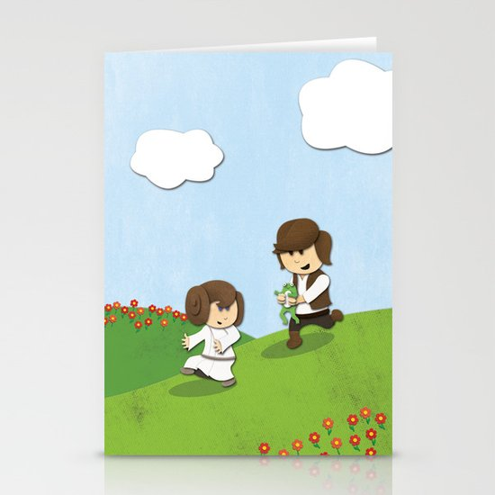 SW Kids - Han Chasing Leia Stationery Card