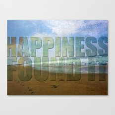 Happiness...found it Canvas Print