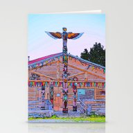 Totem Log Cabin Stationery Cards