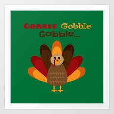 Gobble Me Up! (Square) Art Print