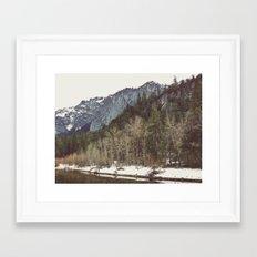 Merced River Layers Framed Art Print