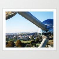 Belgium - Atomium Art Print