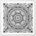 Faded roses mandala Art Print