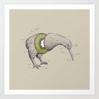 Kiwi Anatomy Art Print