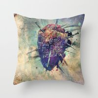 Damaged Heart Throw Pillow