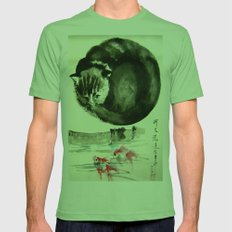 cunning cat Mens Fitted Tee Grass SMALL