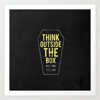 Think Outside The Box, W… Art Print