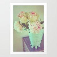 Vintage Peony and Roses Art Print