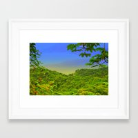 Where we're going, we don't need roads Framed Art Print