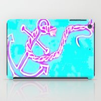 Bright Preppy Anchor Print, hand drawn iPad Case