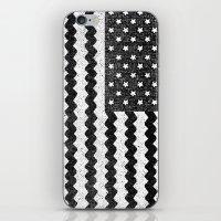 Black Zig Zag Flag iPhone & iPod Skin