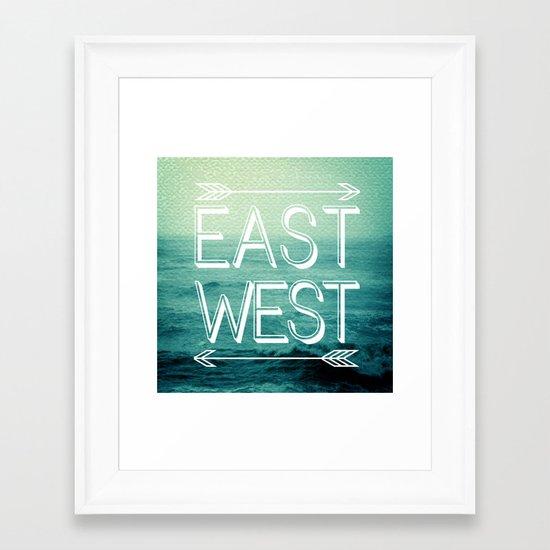 East // West Framed Art Print